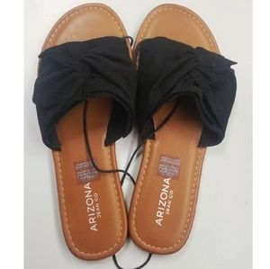 New! Arizona Jean Company Gabi Slide Black Sandals